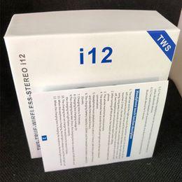 2019 маленькая гарнитура для мобильного телефона i12 TWS Touch Беспроводные наушники Двойные наушники Bluetooth V5.0 стерео наушники Наушники беспроводные наушники с сенсорным управлением SIRI