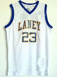 Camisetas de baloncesto juvenil barato online-Venta al por mayor barata MichaeL # 23 Jersey de baloncesto cosido Laney High School Personalizar cualquier número de nombre HOMBRE MUJER JÓVENES camiseta de baloncesto