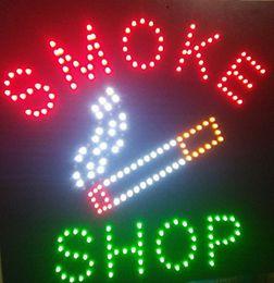 lua verde luzes led Desconto Os sinais de néon abertos da loja conduzida quadrado do fumo para a loja de negócio conduziram o sinal 48 x 48 CM