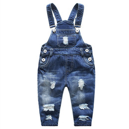 acf20e3b Chinese Jeans for Children Denim Pants Overalls Boy Ripped Girls Baby Boy  Jeans Kids Clothes Casual