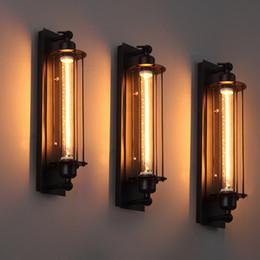 Lampade da parete americane a parete online-Applique da parete vintage Loft Applique da parete industriale americana Edison E27 Bed-lighting Applique da parete a parete con luce a sbalzo