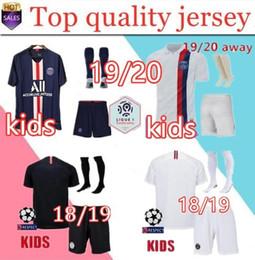 calzini per ragazzi Sconti 2019 2020 KIDS maglia da calcio con calzini maillots PSG aJ 18/19/20 MBAPPE maillot de foot boys ki