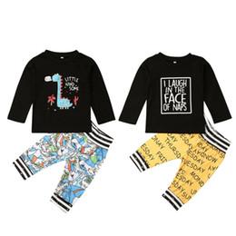 2019 chapéus bola de futebol Canis novíssimo Criança Crianças bebé Outfits manga comprida T-shirt bonito Top Calças Roupa Set 3FS