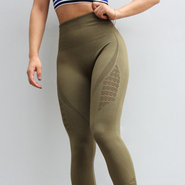 Женщины в жестких штанах йоги онлайн-Леггинсы спорт Женщины фитнес бесшовные леггинсы для спортивной одежды колготки женщины тренажерный зал леггинсы Высокая Талия йога брюки женская спортивная одежда #20169