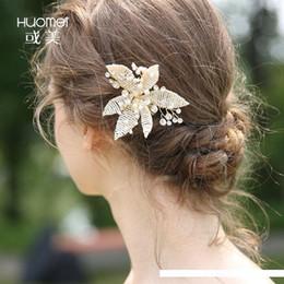 bolos de casamento de ouro branco preto Desconto C163 NPASON noiva Headwear manual Weave míseros Hairpin Cabelo Série Comb Design Wedding Decore Cabelo Novo