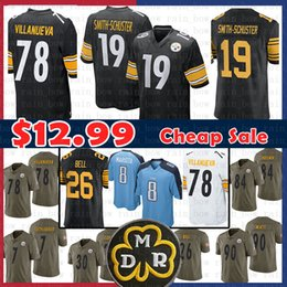 ed0c461c7ff $14.99 Pittsburgh 19 Steelers Juju Smith-Schuster Jersey Tennessee 8 Marcus  Mariota Titans 78 Alejandro Villanueva 26 Le'Veon Bell cheap football  jerseys ...