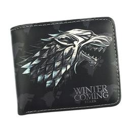 Monete di troni di gioco online-Spedizione gratuita Game Of Thrones Portafoglio Casa Stark Casa Targaryen Casa Lannister Nove stile borsa corto Con Coin Pocket Portafogli