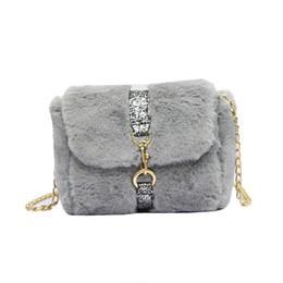 2019 autumn and winter new Korean version of the hairy shoulder bag  handbags Messenger bag chain c6fa0d1acf90f