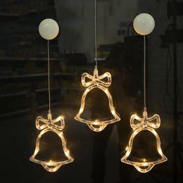 lampada natalizia a led natalizia, capodanno / campana / stelle 6.3in * 7.5in lampada a ventosa in vetro - I69 da nuove luci ghiacciate bianche fornitori