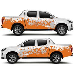 decalques de vinil personalizados Desconto Para dmax personalizar acessórios do carro decalque 2 PC lado corpo tronco traseiro lama styling proteger scratch modificado vinil adesivo de carro gráfico