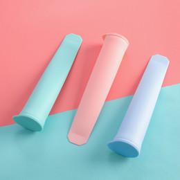 2019 il gelato crema di bastoni Forma di stampi di ghiaccio in silicone per gelato creatore fai da te estate gelato congelato stampo utensili da cucina stampo per popsicle stampo DBC VT0187 il gelato crema di bastoni economici