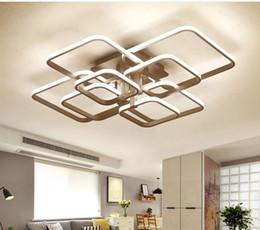 2019 pingente led linear Lustre moderno levou com luzes acrílicas de controle remoto Para Sala de estar Quarto Casa Lustre Teto Luminárias Frete Grátis