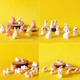 10 Pz coniglio coniglietto miniature bella carina fata giardino gnome moss terrario arredamento artigianato casa delle bambole figurine bonsai da