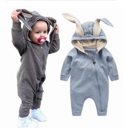 niedliche baby-outfits für den winter Rabatt Neuer Frühlings-Herbst-Baby-Spielanzug-nettes Karikatur-Kaninchen-Säuglingsmädchen-Jungen-Überbrücker-Kind-Baby-Ausstattungs-Kleidung