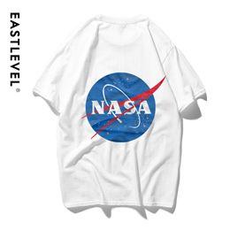 2019 camisas de marcas de nombre ETE camiseta de los hombres Camiseta de los hombres de la NASA Marca de la marea del verano Marca conjunta de la NASA Tendencia de los amantes del algodón de gran tamaño suelto Diseñador de manga corta para hombre camisas de marcas de nombre baratos