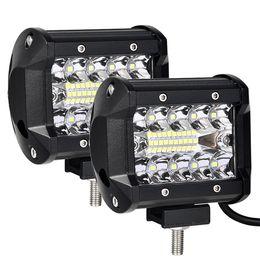 Riflettore 4x4 online-Faretto LED da 4 pollici 60W LED Bar Barra di lavoro Offroad 4x4 Fendinebbia Guida per auto Moto Trattore Barca ATV SUV Lampada Spotlight