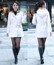Forro de piel sintética abrigo de invierno online-Moda damas chaqueta abajo damas invierno niñas abrigos de piel sintética forro de piel de las mujeres abrigo