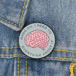 2021 spille decorative Carino Piccolo Brain Round Brain Divertente Smalto Spille Spille per le Donne Camicia Demin di Natale Camicia Decorazioni Brooch Pin Metal Kawaii Badge Monili di moda