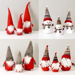 2019 weihnachten fenster dekorationen Weihnachtsmann Schneemann Dekoration Puppe Puppe Weihnachts Stoff Fenster Dekoration günstig weihnachten fenster dekorationen