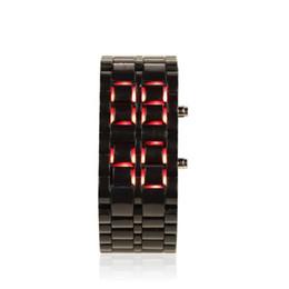 Пластиковые часы мужские онлайн-Black/White Luxury LED Digital Watches Fashion Men's Watch Plastic Watchband Watch Strap Men Sports Electronic