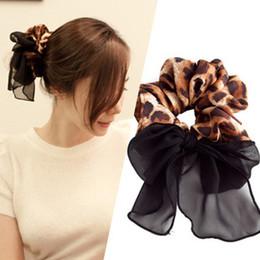 Групповые девушки корея онлайн-1 шт Корея Стиль Женщины волос Tie Leopard Scrunchies волос девушки резинками женские аксессуары