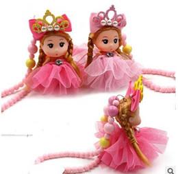 2019 neue Nette Karikatur Schmuck kinder Acryl Prinzessin Halskette Barbie Anhänger Cartoon Puppe Halskette Baby Schmuck von Fabrikanten