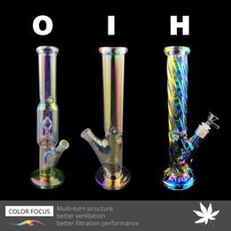 2019 cigarrillo electrónico usado Popular caliente Tubos 12,5 pulgadas del arco iris Nube Estilo de cristal Bongs de agua con piezas de vidrio bowl1pcs 1 Downstem