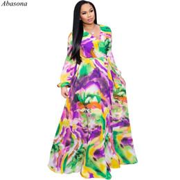 dad8e06f1360e Discount Maxi Loose Chiffon Print Dress Bohemian | Maxi Loose ...