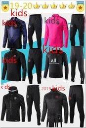 Crianças Psg treino 2019 20 France 2 Stars psg futebol jaqueta de jogging 2019-2020 Paris criança terno de Treinamento de Futebol de