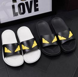 Pantoufles amoureux intérieur en Ligne-Amoureux de la bande dessinée style sandales hommes casual chaussures designer plage intérieur plat luxe femmes sandales été plat sandales glissantes pantoufle