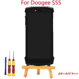 Canada BingYeNing New Original Pour écran tactile Doogee S55 + remplacement de l'écran LCD + du cadre supplier display doogee Offre