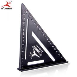 fühlerlehren Rabatt Schreiner Dreieck RDEER 150mm Winkel Lineal Aluminiumlegierung Dreieck Lineal für DIY Home Builders Künstler Holzbearbeitung Messwerkzeuge