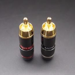 vergoldete rca stecker Rabatt Digital-Kabel-Steckverbinder 25 Stück RCA Stecker Gold überzogenes Draht-Verbindungs 6mm Kabel Cinch-Stecker Professionelle Sprecher Audio Adapter