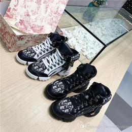 homens vestir botas de tornozelo Desconto Womens tênis de cano alto em malha técnica com inserções de pele de bezerro preto para 2019, Mulheres Sneaker Botas Sapatos de grandes dimensões com Box Tamanho 35-41