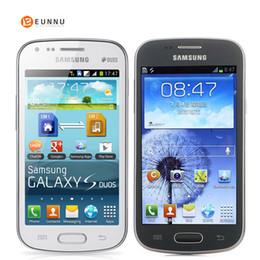 grátis iphone 5c desbloqueado Desconto Originais desbloqueado Samsung Galaxy S Duos S7562, telefones celulares, 4.0 '' tela 3G WIFI GPS 5 MP 4 GB Dual Sim, Smartphone de alta qualidade