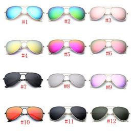 Polarizzatore per vetri online-Occhiali da sole firmati polarizzati per occhiali da sole unisex Occhiali da sole colorati True antigraffio vetri antiabbagliamento universali retrò MMA1856
