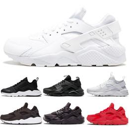 Wholesale Nike Air Max Diseñador White Dot ACE Huarache IV Zapatos para correr Clásico Triple Negro rojo hombres mujeres Marca Huaraches deportes de lujo Zapatillas