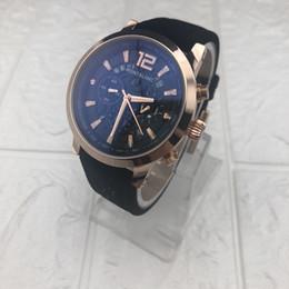2019 faixa de relógio mais alta Nova venda MB de alta qualidade pequeno mostrador dos homens de trabalho relógio marca de luxo relógios de moda de moda homem de couro ocasional relógio de quartzo esportes desconto faixa de relógio mais alta