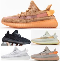 Cordones yeezy online-Adidas yeezy boost nmd sply 350 V2 2019 de arcilla hiperespacio TRFRM Zapatos de sésamo al aire libre Static Lace Reflective Mujer Hombre Zapatillas Hombre Diseñador Sport Trainer
