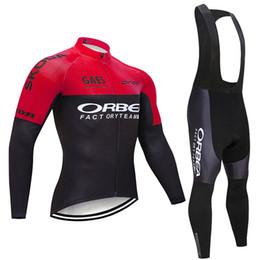 camisas de ciclismo orbea Desconto Inverno 2019 equipe Orbea ciclismo jersey 19D gel pad calções de bicicleta ropa ciclismo homens térmica fleece BICICLETA Maillot Culotte vestuário