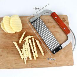 Coupe de pommes de terre vague en acier inoxydable légumes Slicer pommes de terre pâtisserie Kitche Outils bricolage main savon Couteau HHA1297 ? partir de fabricateur