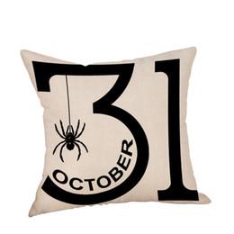 moomin hülle Rabatt Halloween Kissenbezug Leinen Sofa Kürbis Geister Kissenbezug werfen Wohnkultur Funda Cojin Housse de Coussin # 5