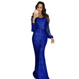 2019 vestido de noite verde tony ward 2019 azul royal lantejoulas sereia vestidos sexy manga comprida sereia tribunal trem comprimento vestidos de baile vestidos de noite vestido de dama de honra vestido de baile