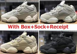 Livraison gratuite pour les chaussures en Ligne-2019 500 sel Blush Utility Black Desert Rat 500 Super Lune jaune chaussures de course baskets formateur avec boîte livraison gratuite prix de gros