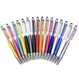 2019 penna capacitiva dello stilo del metallo Penna stilo touch screen sostituibile ricarica Bling Penna a sfera di cristallo creativa Pilota per la scrittura di cancelleria Ufficio Scolastico Studenti regalo