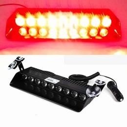 2019 luci rosse ems 9 LED 9w Car Truck Strobe parabrezza luci del cruscotto 16 Pattern Super Bright per l'applicazione della legge EMS Attenzione LED luci stroboscopiche (rosso) luci rosse ems economici
