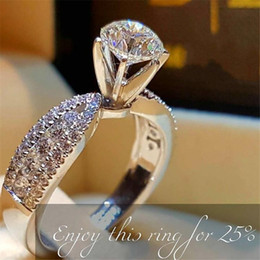 best wedding gifts for men Promo Codes - Simple love Promise Ring 925 Sterling silver Diamond