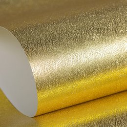 roll glitter paper Coupons - Modern Glitter Wallpaper Rolls Gold Foil Wall paper Light Reflection Silver Wall papers for living room papel de parede