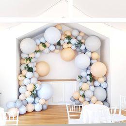 Mariage bleu pêche en Ligne-119 pcs DIY Balloon Garland Kit Macaron Bleu Pêche Pastel Ballons Décoration De Fête D'anniversaire De Mariage Baby Shower Party Supplies