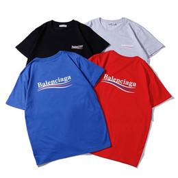 2019 baratos de marca ropa de los niños Diseñador de camisetas Ropa para hombre Marca de lujo Tops Camiseta Moda Verano Marea Braned Cartas Impreso Casual Camisetas